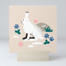 Bunny in Spring Mini Art Print