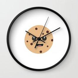 chocolate chip cookie kawaii Wall Clock