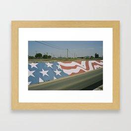 Highway Flag Mural Framed Art Print