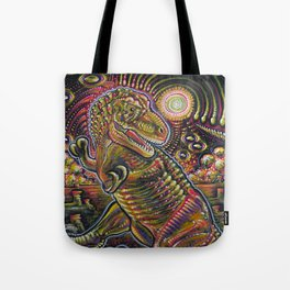 End of the World Party (Tyrannosaurus rex + UFOs) Tote Bag
