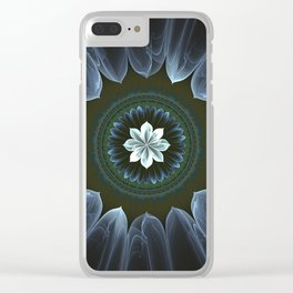 Blossom Within in White Clear iPhone Case