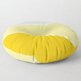Diagonal Color Block in Yellows and Gray Floor Pillow