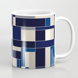 Blue abstract city Coffee Mug