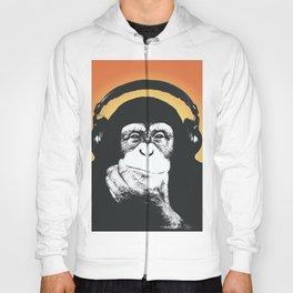 Steez Originals Monkey Headphones Orange Hoody
