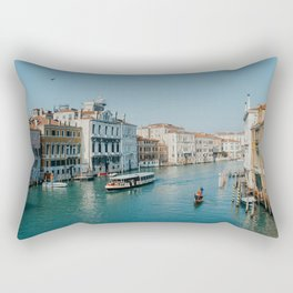 Gondola in the canals of Venice, Italy | Pastel colorful travel photography in Europe | Art Print Rectangular Pillow