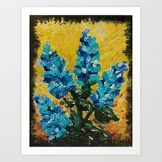 SHADES OF BLOOM - Stunning Floral Abstract Modern Home Decor Hyacinths Bright Bold Color Garden 2012 Art Print