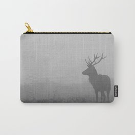 Deer in Grey Fog Carry-All Pouch