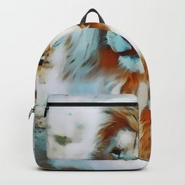 Pastel Albino Lion Backpack
