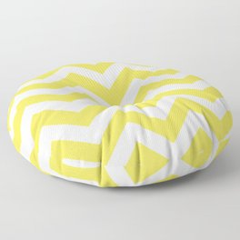 Minion yellow - yellow color - Zigzag Chevron Pattern Floor Pillow