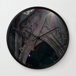 Temple in the eye Wall Clock