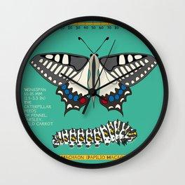Machaon (Papilio Macaon) Wall Clock