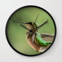 More Hummingbird Love Wall Clock