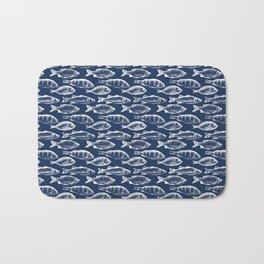 Fish // Navy Blue Bath Mat