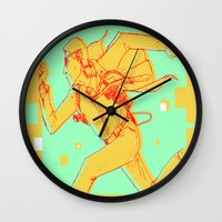 runner Wall Clocks featuring Runner by gallerydod