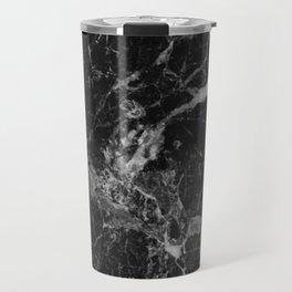 Black and Gray Marble Pattern Travel Mug