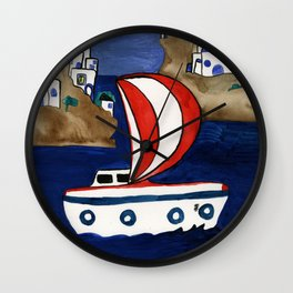 Journey to Greece Wall Clock