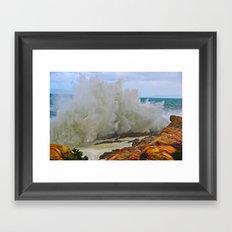 Super Wave Framed Art Print