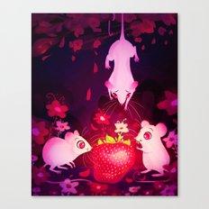 One Strawberry Canvas Print