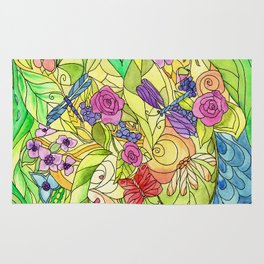 Stained Glass Garden Rug