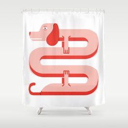 Teckel · Dachshund · Perro salchicha Shower Curtain