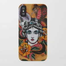Woman with snake Slim Case iPhone X