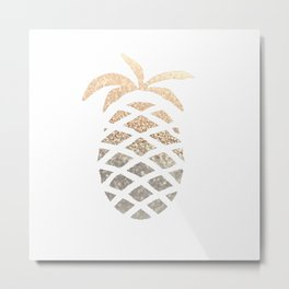 GOLD PINEAPPLE Metal Print