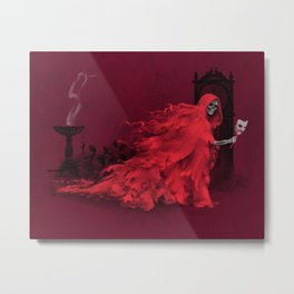 Red Death Metal Print