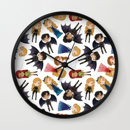 Court of Wings Wall Clock