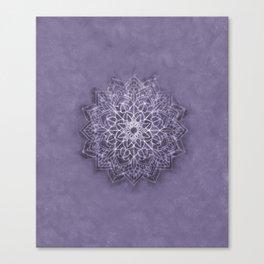 Vintage Lavender Watercolor Mandala Canvas Print