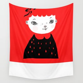 Ruby Red Wall Tapestry
