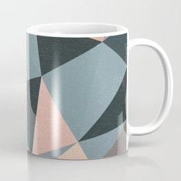 Moody urban Geometry - blue grey peach Coffee Mug