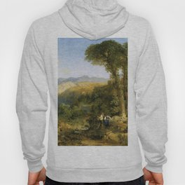 Amalfi Coast 1868 By Thomas Moran   Incredible Landscape Reproduction Hoody