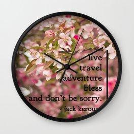 rules of life - jack kerouac  Wall Clock