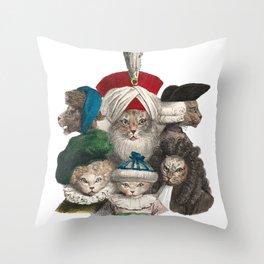 Les Chats Coiffés Throw Pillow