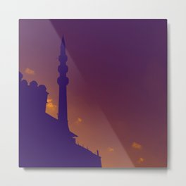 Purple Mosque Metal Print