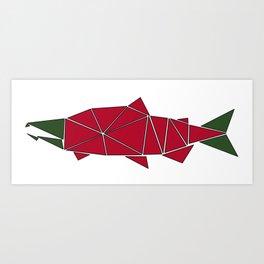 Alaskan Angler Art Print