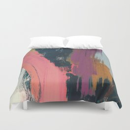 Anywhere: a bold, colorful abstract piece Duvet Cover