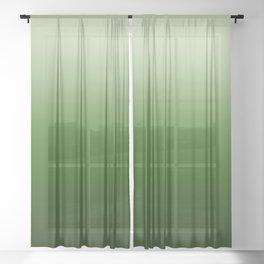 Tropical Green Gradient Sheer Curtain