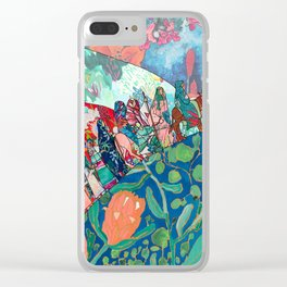 Floral Migrant Quilt Clear iPhone Case