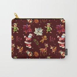 Joyful Christmas Santa Elfs Deers Carry-All Pouch
