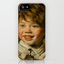 "Frans Hals ""Laughing boy"" iPhone Case"