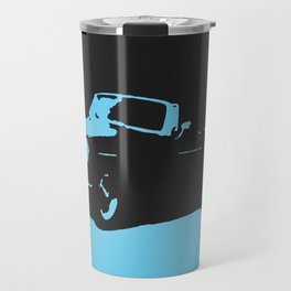MGB, Light Blue on Black Travel Mug