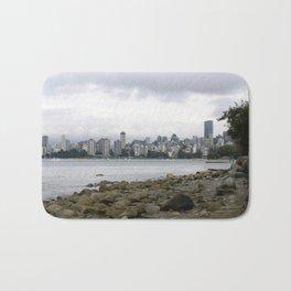 Vancouver City Skyline Bath Mat