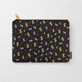 golden,silver,red,black pattern dollar symbol Carry-All Pouch