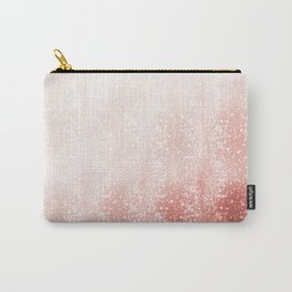 Rose Gold Pink Pastel Bokeh Effect Ombre Carry-All Pouch