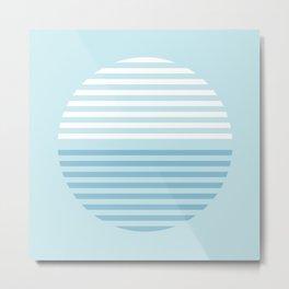Horizons Summer Blues - Turquoise Metal Print