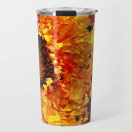 Sunflowers Abstracted Travel Mug
