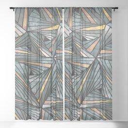 Mesh (Grey and Copper) Sheer Curtain
