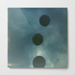Dark Balloons Metal Print
