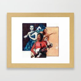 3 Mary's 3 Guitars Framed Art Print
